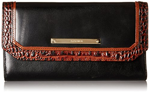Brahmin Soft Checkbook Wallet, Black, One Size