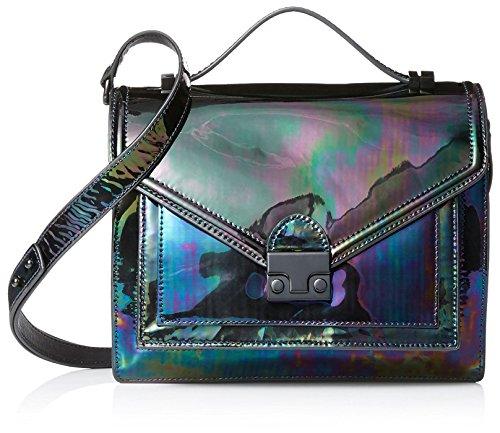 Loeffler Randall Women's Medium Signature Attache Bag, Petrol