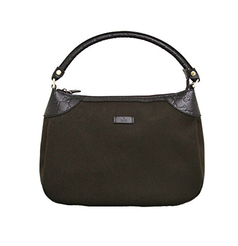 Gucci Brown Canvas Hobo Shoulder Bag Guccissima Leather Handbag 279154