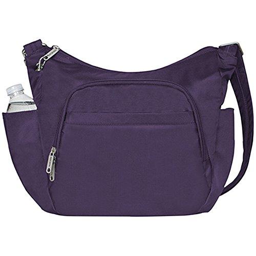 Travelon Anti-Theft Cross-Body Bucket Bag,One Size,Purple