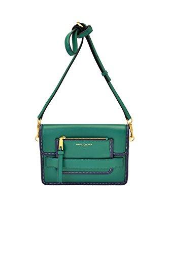 Marc Jacobs Leather Madison Medium Shoulder Bag in Emerald Green