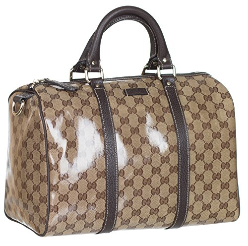 Gucci Crystal Coated GG Guccissima Boston Leather Satchel Hobo Bag