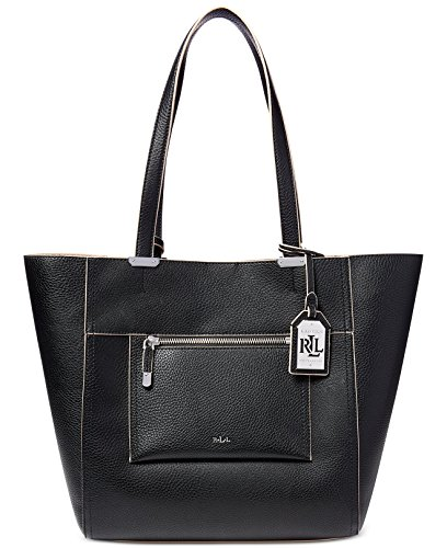 Lauren Ralph Lauren Paley Lauryn Medium Shopper,Black