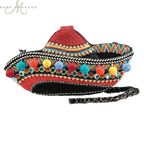Mary Frances 'Ole' Pom Pom Sombrero Convertible Clutch Bag, Multi