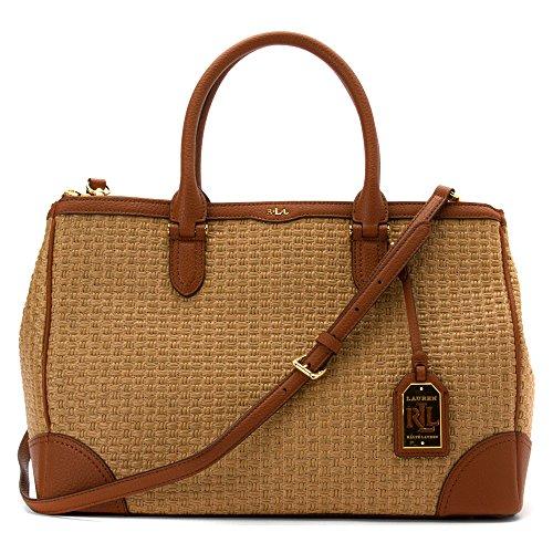 LAUREN Ralph Lauren Women's Clifton Double Zip Satchel Top Handle Handbag
