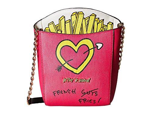 Betsey Johnson Kitsch French Fries Crossbody Bag in Fuchsia