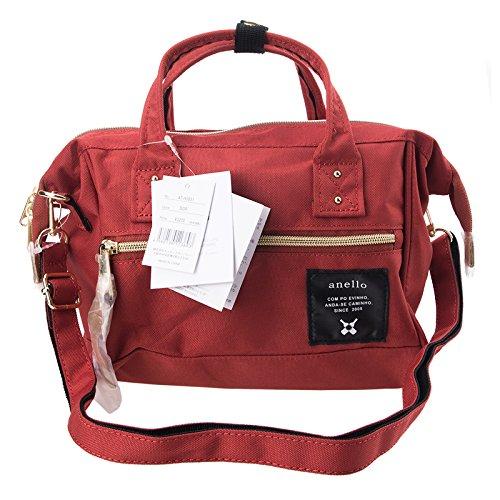Anello Official Dark Orange Japan Fashion Shoulder Top-Handle Satchels Cross-Body Bag Unisex