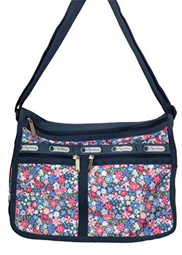 LeSportsac Deluxe Everyday Handbag Shoulder Bag Purse #2215, Frolic Blue