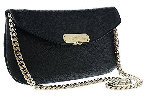 Versace Collection Women Pebbled Leather Clutch Handbag Black