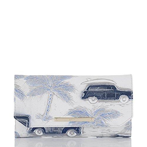 Brahmin Soft Checkbook wallet Copa Cabana Cars Leather