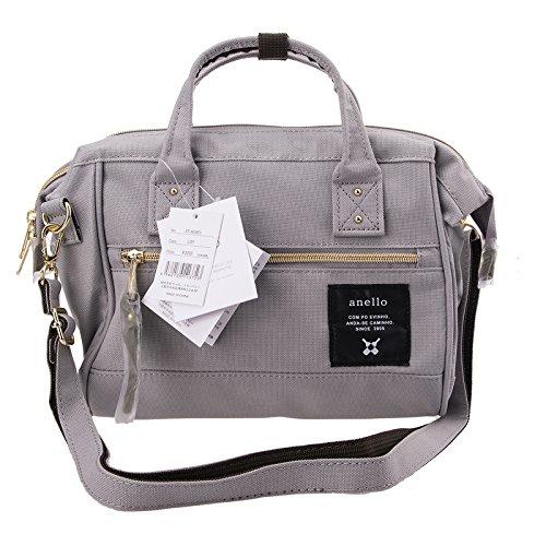 Anello Official Grey Japan Fashion Shoulder Top-Handle Satchels Cross-Body Bag Unisex