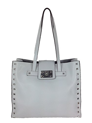 Vince Camuto Shana Studded Leather Tote, Pale Grey