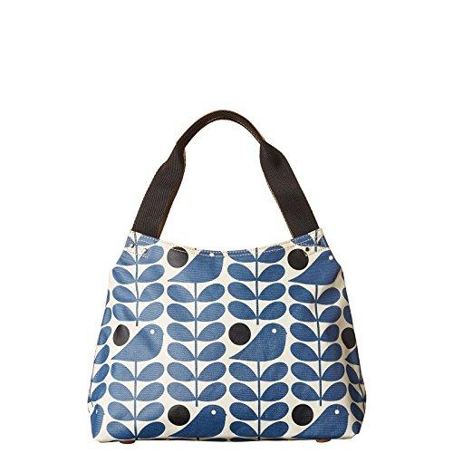 Orla Kiely Zip Shoulder Bag Prussian Blue