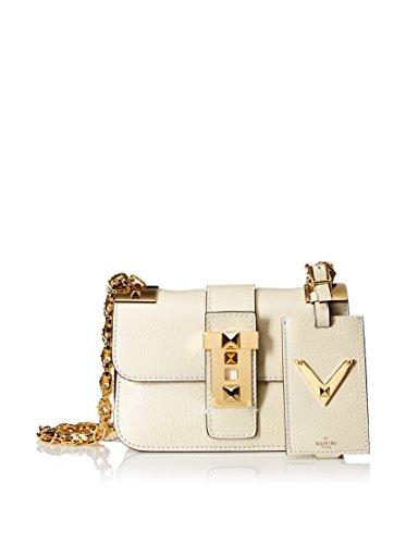 Valentino Women's Chain Shoulder Strap Bag, Ivory