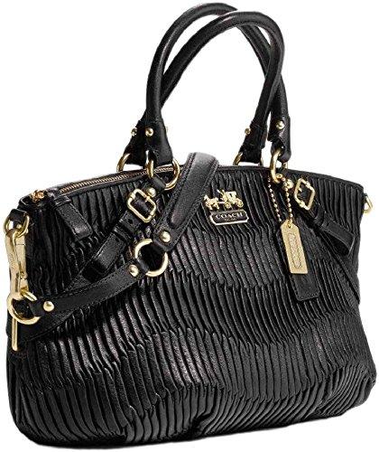 f6c5a763a1 ... norway coach 15942 gathered leather sophia madison convertible handbag  black 3e25e 71f03