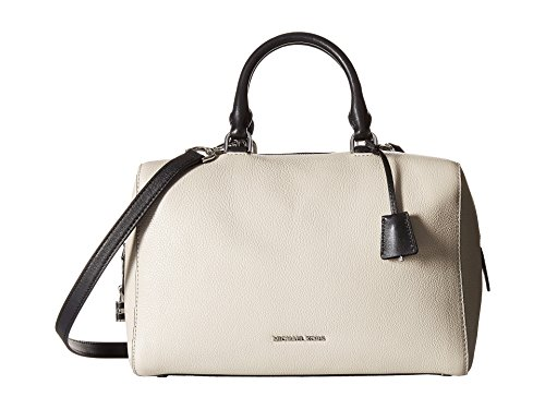 Michael Kirby Large Satchel Pebble leather Cement/silver