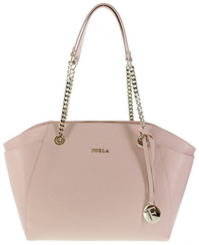 Furla JULIA Saffiano Leather Shoulder Hand Bag (Magnolia)