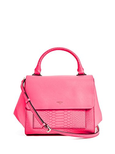 GUESS Evette Python-Embossed Satchel