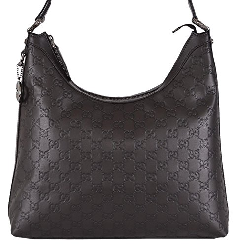 Gucci Women's Brown GG Guccissima Leather GG Pendant Hobo Purse
