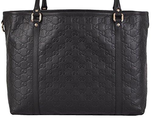Gucci Women's Black Leather Guccissima GG Joy Handbag Tote