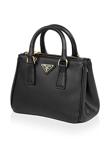 Prada Women's Galleria Saffiano Leather Mini, Black, Small