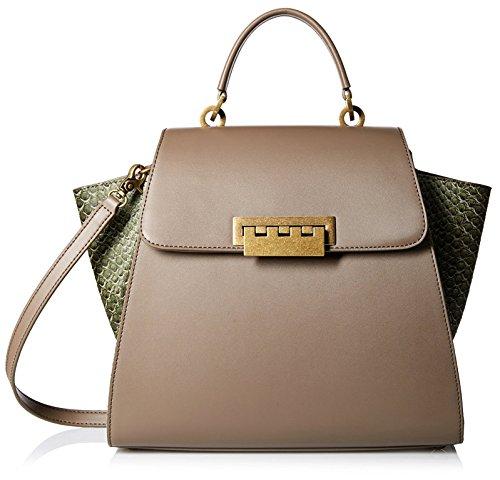 ZAC Zac Posen Women's Eartha Iconic Top-Handle Satchel Bag, Mink