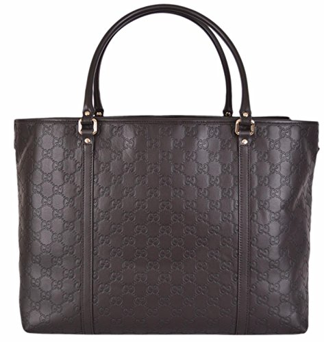 Gucci Women's Large Brown Leather Guccissima GG Joy Tote
