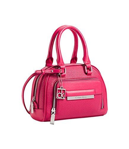 Calvin Klein Valerie Sleek Studio Dome Satchel Shoulder Small Bag Handbag Punch Pink