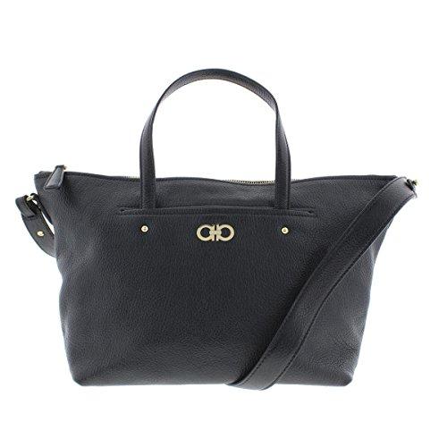 Salvatore Ferragamo Womens Mika Leather Convertible Tote Handbag