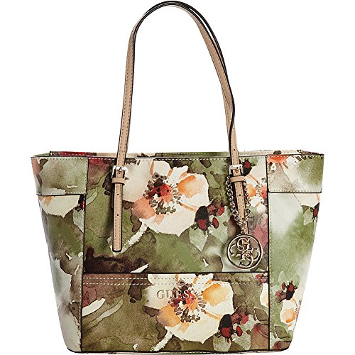 GUESS Delaney Floral-Print Small Classic Tote