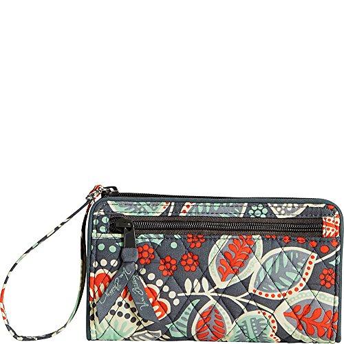 Vera Bradley Women's Front Zip Wristlet Nomadic Floral Clutch
