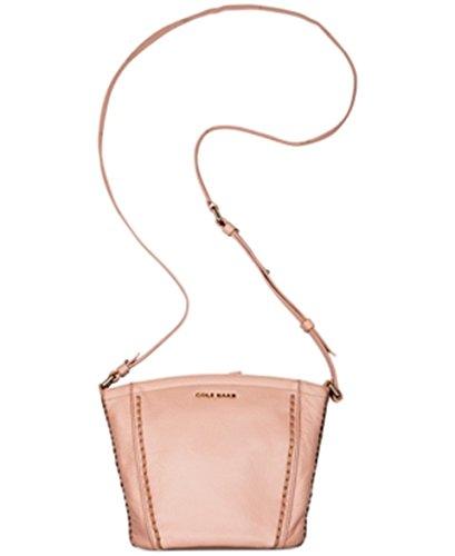 Cole Haan Women's Nickson Top Zip Crossbody Bag Purse, Canyon Rose