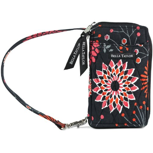 Posy Pop Quilted Cotton Wristlet Wallet