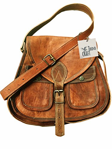INDO CRAFT 11″ Leather Cross Body Bags Leather Sling bag for women Purse