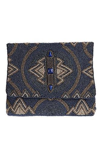 Mary Frances Wild Blue Handbag