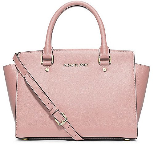 Michael Kors – Selma Medium Saffiano Leather Top Zip Satchel – Pastel Pink