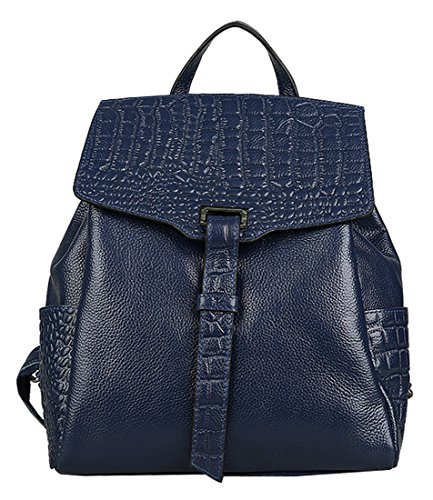 Heshe® New Lady's Double Use Fashion Crocodile Sling Tote Top Handle Bag Backpack School Bag Travelling Purse Women's Handbag
