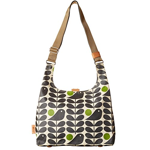 Orla Kiely Early Bird Print Midi Sling Bag Granite
