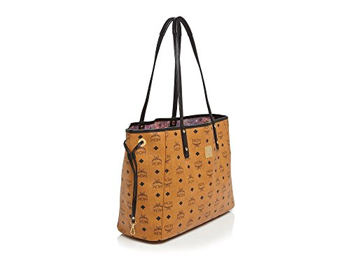 Mcm shopper Project Medium reversible shoulder tote in cognac