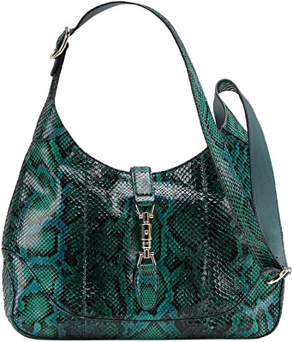 Gucci Green Jackie Python Shoulder Bag