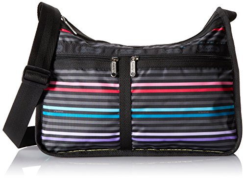 LeSportsac Classic Deluxe Everyday Bag, Lestripe Black, One Size