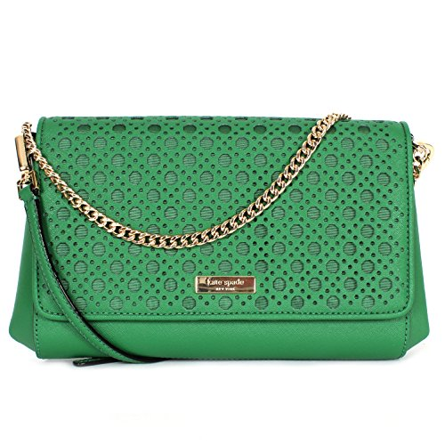 Kate Spade New York Newbury Lane Caining Greer Clutch Handbag Sprout Green
