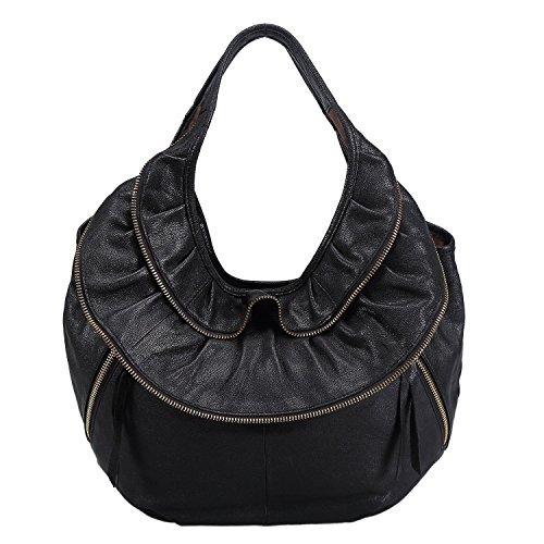 Sak&Co. Soft Leather Vintage Hobo Tote Handbag Large Shoulder Bag for Women