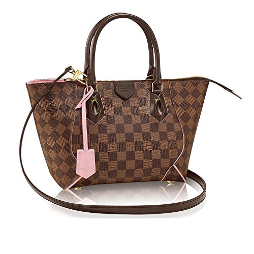 Authentic Louis Vuitton Damier Caissa Tote PM Handbag Article:N41554 Rose Ballerine Made in France