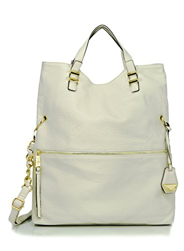 Jessica Simpson Hanne Foldover Convertible Cross Body Bag, Putty/Cloud Grey