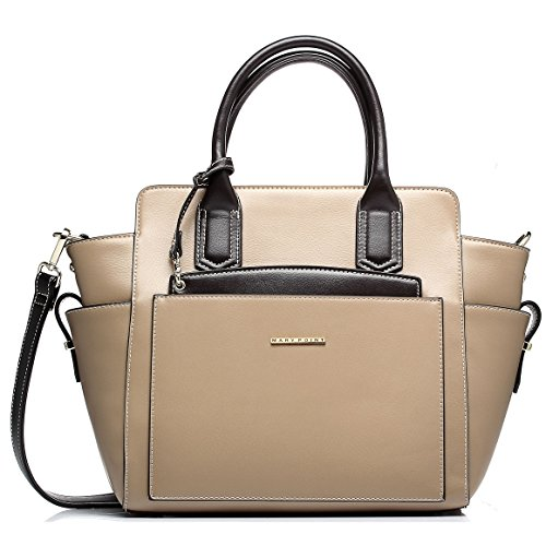 Mary Point® Designer Handbag Leather Vegan – Office Style Satchel Bag Emily with Long Strap