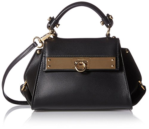Salvatore Ferragamo Women's Leather Cross-Body Bag, Nero