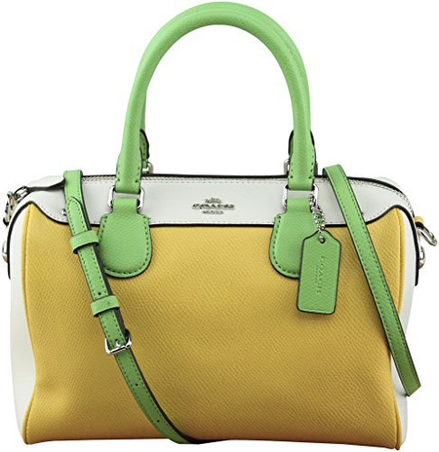 Coach Women's Color Block Mini Bennett Satchel In Leather, Style F37708,