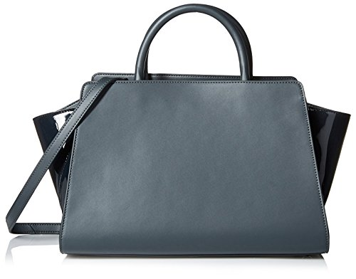 ZAC Zac Posen Women's Monochromatic Eartha East/West Satchel, Dark Teal