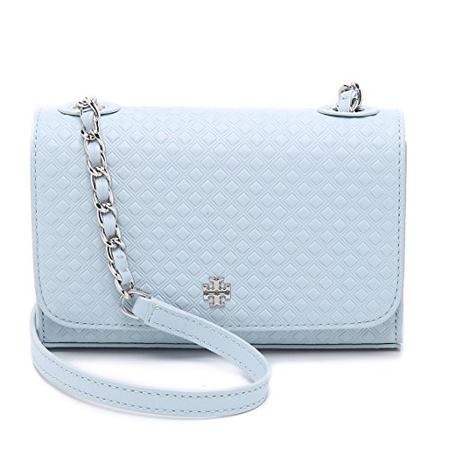 Tory Burch Quilted Crossbody Leather Iceberg